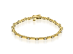 1 ct Diamond Link Bracelet in 14K Gold