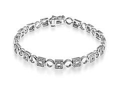 1 ct Diamond Link Bracelet in 10K White Gold