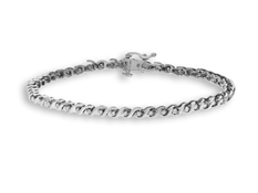 3/4 ct Diamond Link Bracelet in 14K White Gold