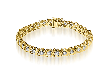 6 ct Diamond Link Bracelet in 10K Gold from Jewelry.com