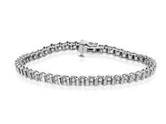2 ct Diamond Link Bracelet in 10K White Gold