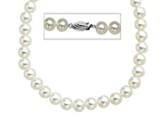 16-inch 8.5mm Pearl Strand with Sterling Silver Clasp
