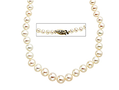 18-inch 4-8mm Graduating Pearl Strand with 10K Gold Clasp