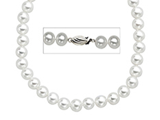 18-inch 8mm Pearl Necklace with 14K Gold Clasp