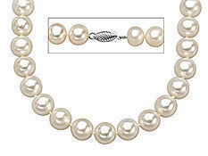 18-inch 9mm Pearl Strand with Sterling Silver Clasp