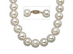 18-inch 10.5-12mm Pearl Strand with 10K Gold Clasp