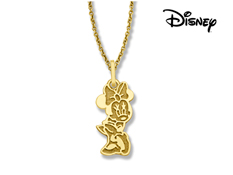 Disney's Classic Minnie Mouse Pendant in solid 10K Gold
