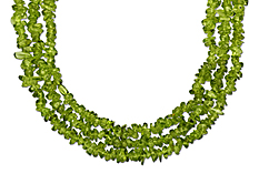 Set of 3 Natural Peridot Strands