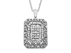 1/2 ct Diamond Pendant in Sterling Silver