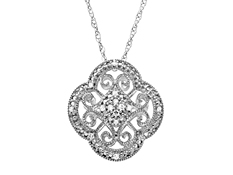 1/10 ct Diamond Pendant in Sterling Silver