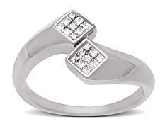 1/5 ct Princess-cut Diamond Ring in 14K White Gold