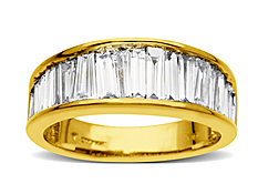 2 ct Baguette-cut Diamond Anniversary Ring in 14K Gold