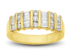 3/4 ct Diamond Anniversary Ring in 14K Gold