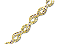 1 ct Round-cut Diamond Bracelet in 14K Gold