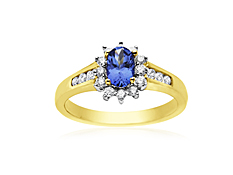 Tanzanite & 1/3 ct Diamond Ring in 10K Gold
