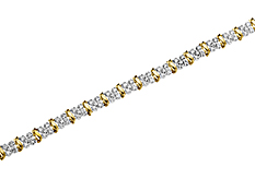 1 ct Diamond Bracelet in 10K Gold