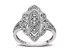 1/8 ct Diamond Ring in 10K White Gold