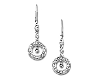 Diamond Earrings in 10K White Gold