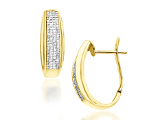 1 ct Diamond Hoop Earrings in 10K Gold