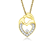 Diamond Mother's Jewel Pendant in 10K Gold