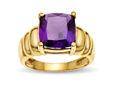 5 ct Amethyst Ring in 10K Gold