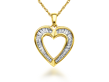 1/3 ct Diamond Heart Pendant in 10K Gold
