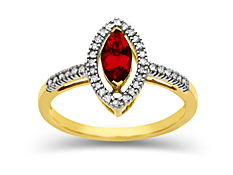 Ruby and Diamond Ring in 10K Gold