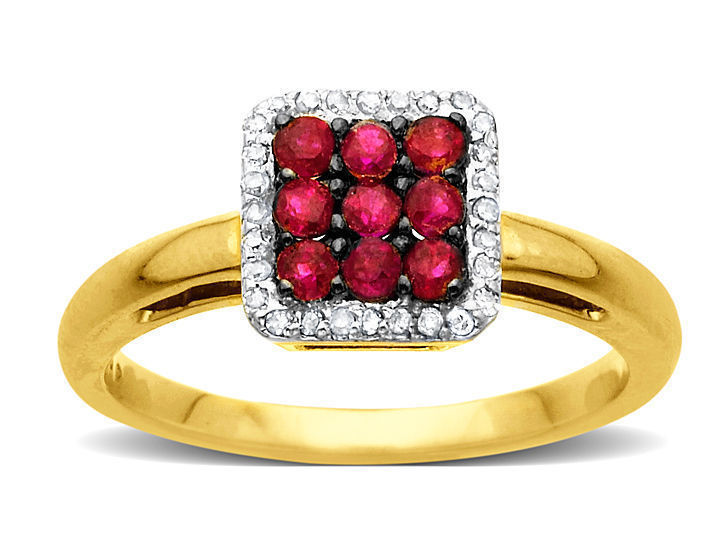 3/8 ct Ruby Ring with Diamonds in 10K Gold from Jewelry. com
