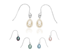 Multi-Pearl Drop Earring Set in Sterling Silver