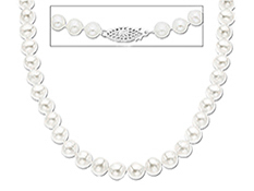 6 mm Pearl Necklace with Sterling Silver Clasp