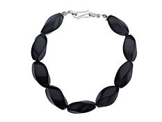 124 ct Onyx Bracelet in Sterling Silver