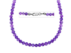 68 ct Amethyst Necklace in Sterling Silver