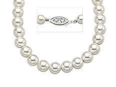 18-inch 7mm Shell Pearl Strand in Sterling Silver
