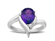 1 3/4 ct Amethyst and White Topaz Ring in Sterling Silver