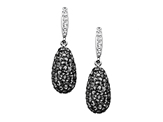Drop Earrings with Swarovski Crystal in Sterling Silver