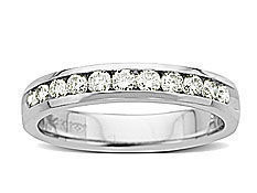 1/2 ct Round-cut Diamond Anniversary Ring in 14K White Gold
