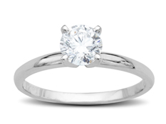 3/4 ct Diamond Ring in 18K White Gold