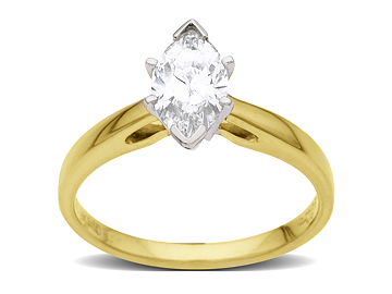 3/4 ct Marquise-Cut Diamond Engagement Ring in 18K Gold from Jewelry. com