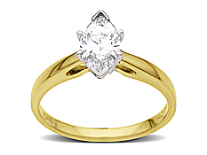 3/4 ct Marquise-cut Diamond Engagement Ring in 18K Gold