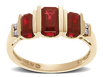 Ruby Ring in 14K Gold with Diamonds from Jewelry. com