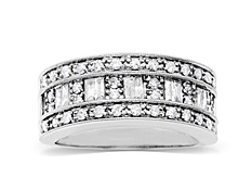 3/4 ct Diamond Anniversary Ring in 14K White Gold