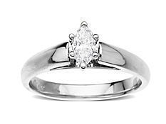 3/8 ct Marquise-Cut Diamond Engagement Ring in 14K White Gold from Jewelry. com