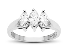7/8 ct Diamond Anniversary Ring in 14K White Gold