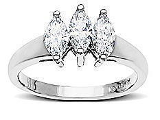 5/8 ct Diamond Three-Stone Ring in 14K White Gold from Jewelry. com