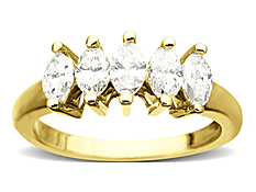 1 ct 5-Stone Diamond Ring in 14K Gold