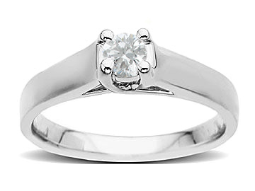 1/4 ct Diamond Engagement Ring in 14K White Gold from Jewelry. com