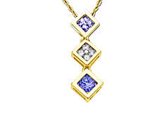 Tanzanite Pendant in 14K Gold with Diamonds