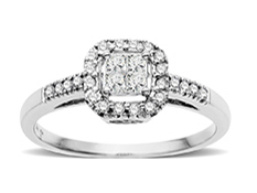 1/4 ct Diamond Ring in 14K White Gold
