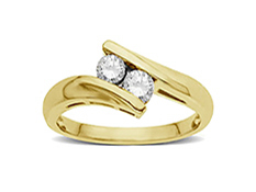 1/3 ct Diamond Duo Ring in 14K Gold