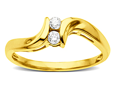 Duo Diamond Ring in 14K Gold